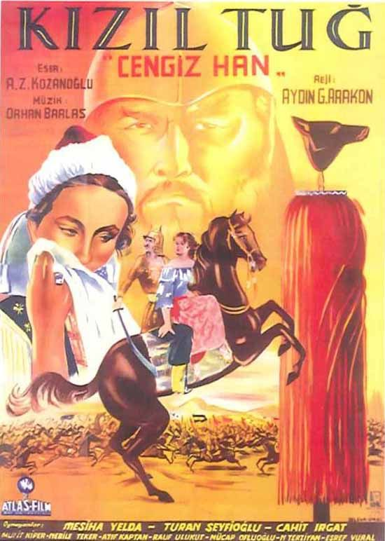 Türk Nostalji - Fotogaleri - Kızıltuğ - Cengiz Han (1952) filminin afişi