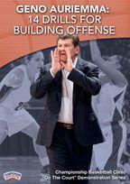 Geno Auriemma: 14 Drills for Building Offense - Coach's Clipboard #Basketball DVD Store