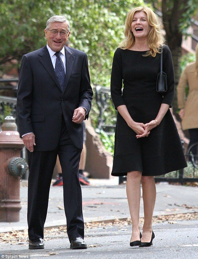 In good company: Rene Russo and Robert De Niro didn't let the fact they were filming funer...