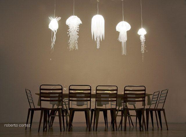 Jellyfish pendant lamps