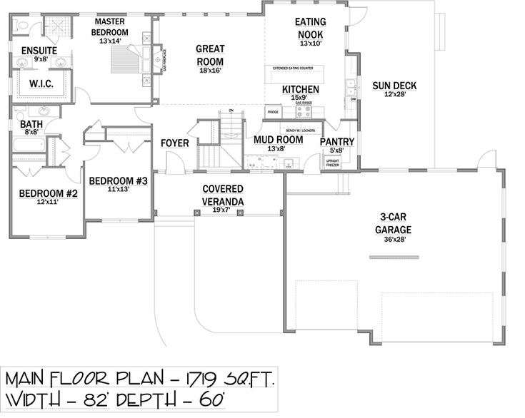 Bungalow house plan 81133 planos y arquitectura for Bungalow house plans with basement