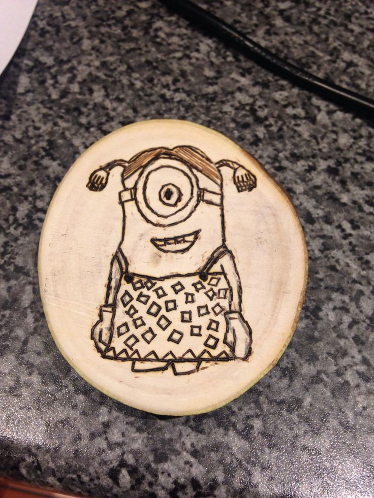 Minion(ette) pyrograhy by Evie Jones  #RainyDays