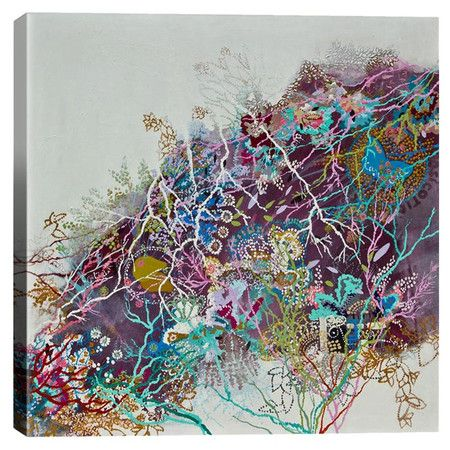 Bring a touch of chic style to your living room or master suite with this eye-catching canvas print, showcasing a whimsical abstract motif. ...