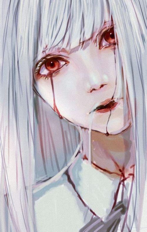 Imagem de anime, girl, and blood