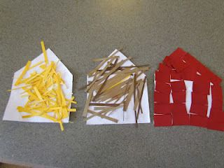 3 little pigs houses craft. Li LOVES 3 Little Pigs. Why didn't I think of something like this?!