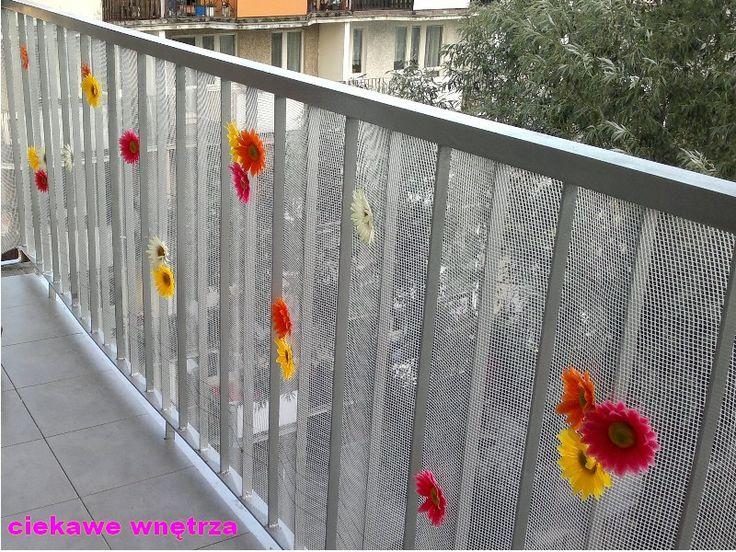 Osłona balkonowa w innej odsłonie - siatka do styropianu :)