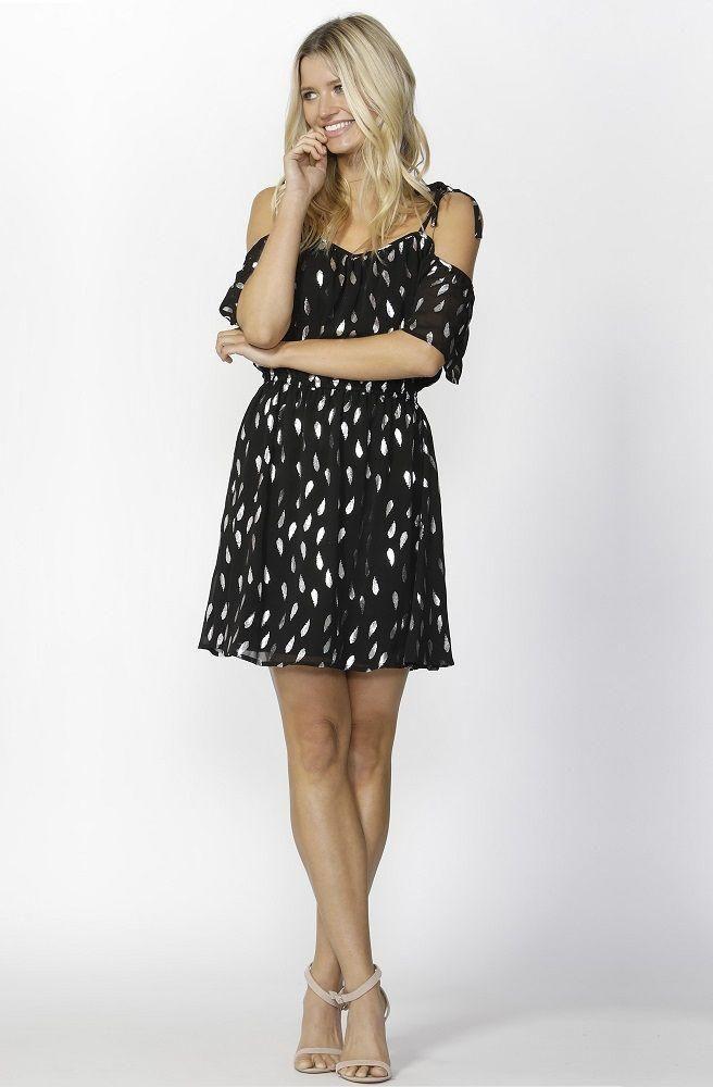 Sass - Feather Foil Dress