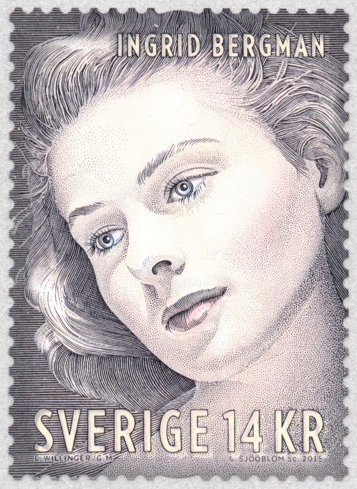 Sweden 14kr Ingrid Bergman (II) 2015 Lars Sjööblom sc.