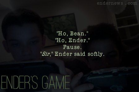 Ender's Game - Orson Scott Card honestly one of my favorite parts! So glad they added to lines (kind of) to the movie :)
