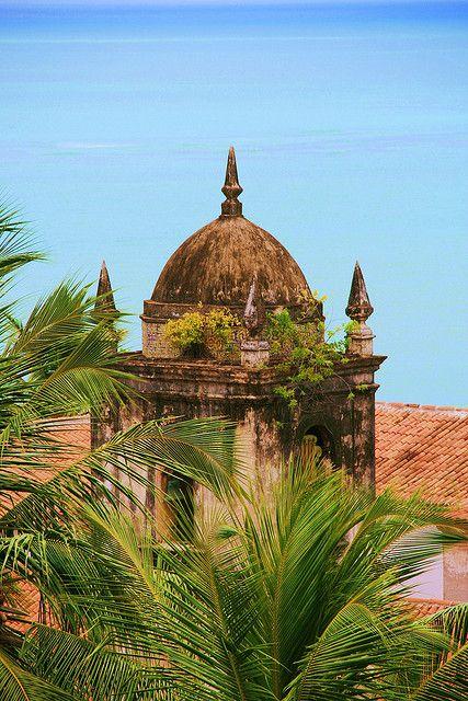 Torre do convento de São francisco - Olinda, Brazil