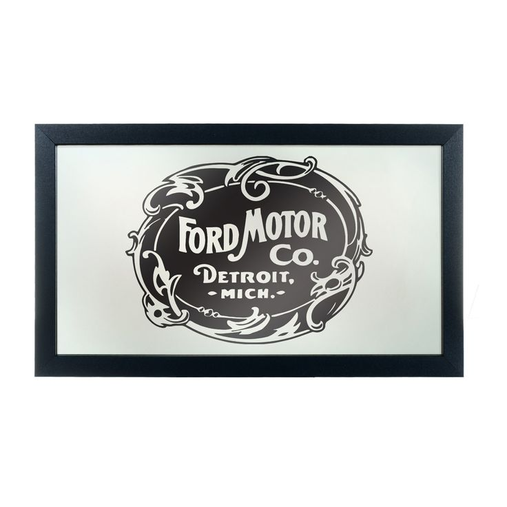 Trademark Global Vintage 1903 Ford Motor Company Logo Wall Mirror - FD1500-FM03-B