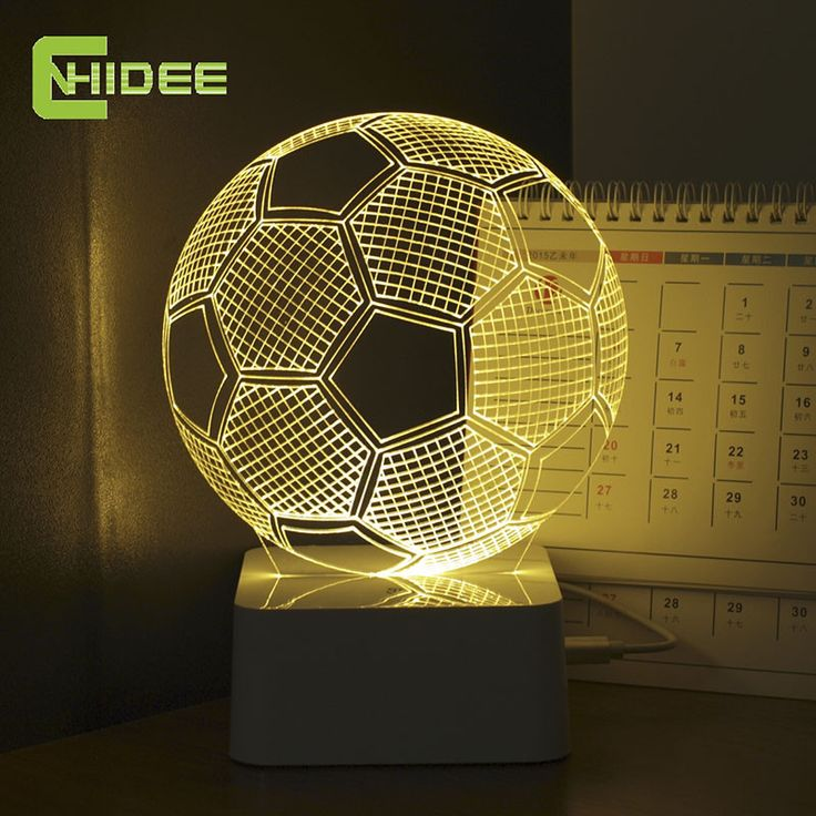 3D Illusion Soccer Lamp Home ManCave