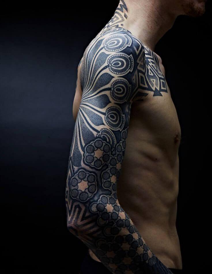Top 100 Best Sleeve Tattoos For Men Cool Design Ideas Inspirations Improb Pointillism Tattoo Best Sleeve Tattoos Sleeve Tattoos