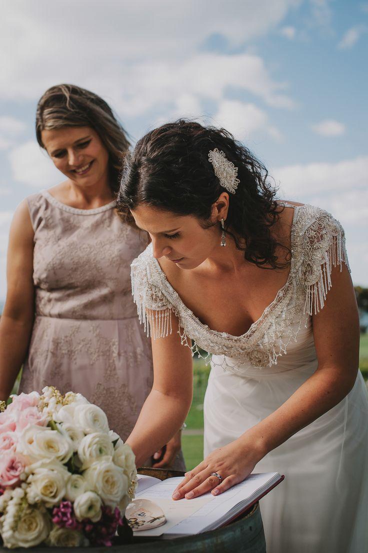 Millie in 'Sienna' Wedding dress by Gwendolynne - Image by www.lucyspartalis.com