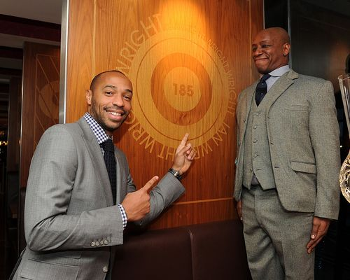 Henry and Ian Wright at the Release of Thierry Henry's Book 'Legend'.
