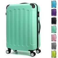 Wish | Unisex Hard Luggage Spinner Upright Suitcase Rolling Carry On Travel Bag