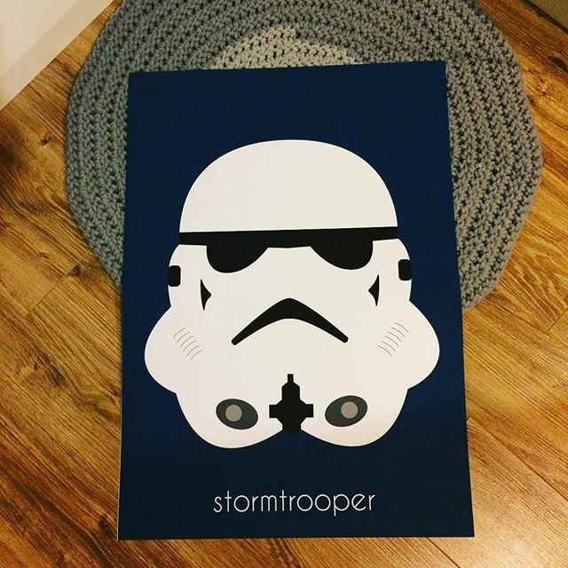 Plakat ze szturmowcem  #starwars #stoormtrooper #poster #scandiposter