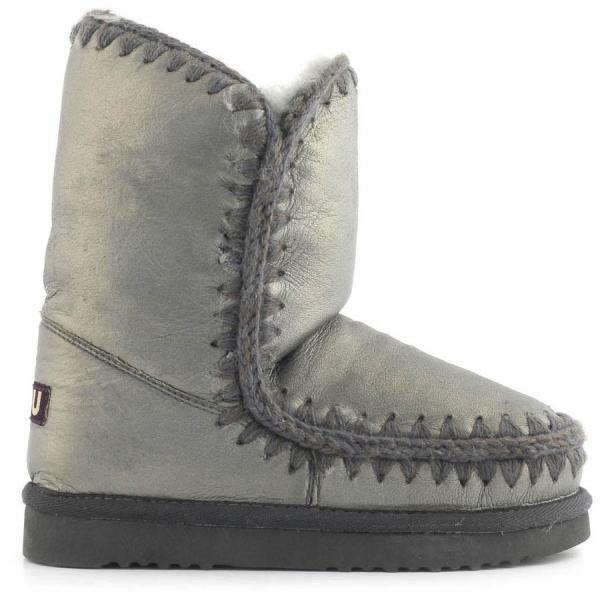 Mou Eskimo 24 Limited Edition Short Boots Pearl Nappa Gunmetal - MOU #mou #mouboots #boots #fashion #style