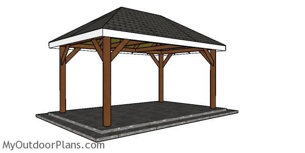 10x16 Gazebo Hip Roof Plans Myoutdoorplans Free Woodworking Plans And Projects Diy Shed Wooden Playhouse Pergola Bbq In 2020 Gazebo Roof Hip Roof Gazebo