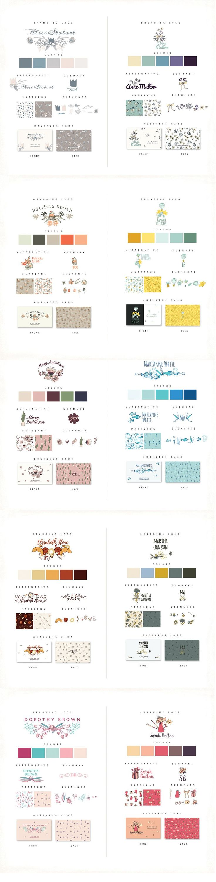 Get Creative With These Personal Branding Logos I present Personal Branding Logos. In this case, you should use Adobe Illustrator and Photoshop. Included in this set: • 20 Packs in this set • Logo and 2 alternatives – .EPS files • 2 Seamless patterns – .EPS and .JPG files (.JPG: 3600x3600px) • Business card – ... read more