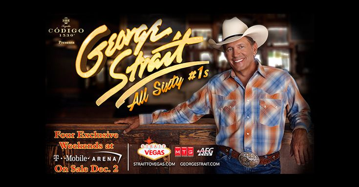 Join George Strait as a #1 fan as he plays his #1 hits in Las Vegas! Incredible ticket packages and travel packages available via CID Entertainment.