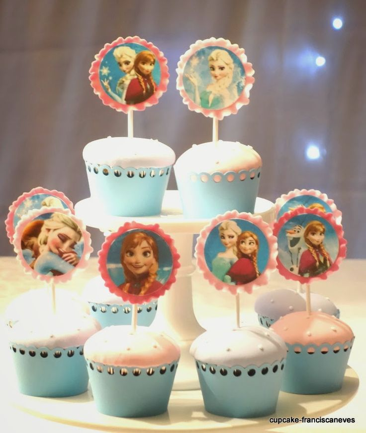 edible cupcake toppers from Frozen!
