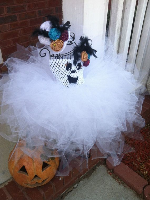 Beautiful Girls Bling and Glitter Ghost TuTu by BetterThanBows, $59.95