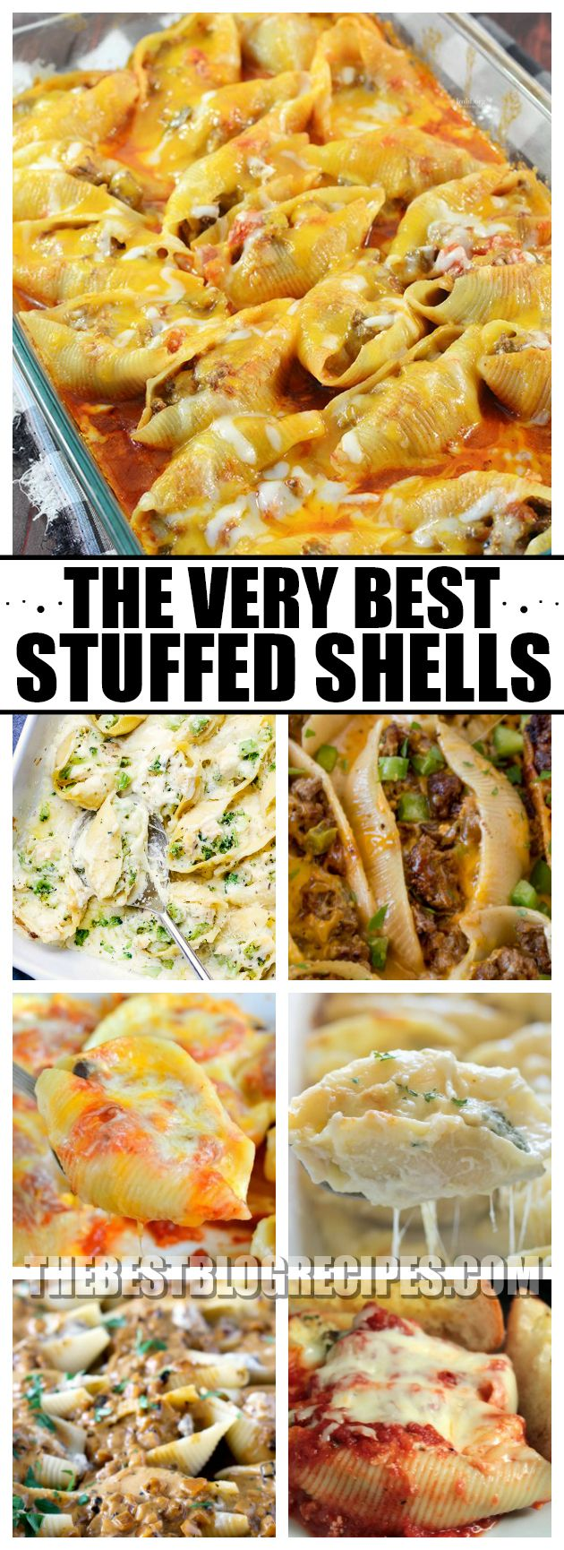 Stuffed shells are amazing and so easy to make, which is why we have compiled The Best Stuffed Shells Recipes! These recipes are perfect for a lazy weeknight meal, or a dinner to impress. With delicious and savory flavors, no one will be able to resist these recipes! via @bestblogrecipes