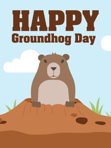 How to make a card for Groundhog Day