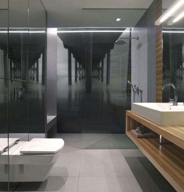 moderne badgestaltung mit fototapete br cke wandfarben badezimmer bad und baden. Black Bedroom Furniture Sets. Home Design Ideas