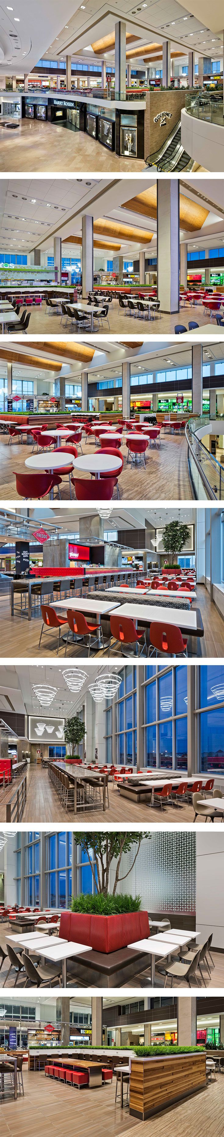 Sherway Gardens Food Court in Toronto, ON - designed by GH+A (in collaboration with Dialog)
