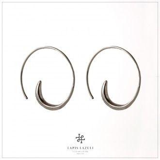 Medium Silver Spiral Earring