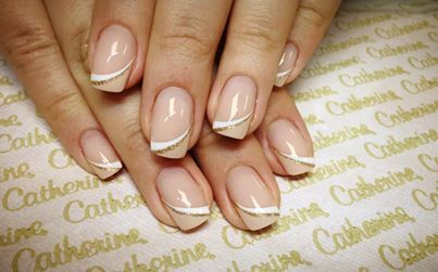 Nude and White Refined French Nail  From  Catherine Nail Collection Ireland  thttp://www.dailynails.com/nail-art/art/nude-and-white-refined-french-nail-art