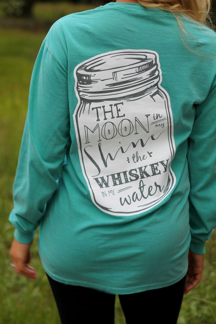 Off the Racks Boutique - PREORDER Whiskey In My Water Long Sleeve Tee: Seafoam, $36.99 (http://www.shopofftheracks.com/preorder-whiskey-in-my-water-long-sleeve-tee-seafoam/)