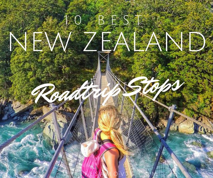 The BEST New Zealand roadtrip stops on the South Island! Rent a camper van and go chase some waterfalls, glaciers, and beautiful blue lakes!