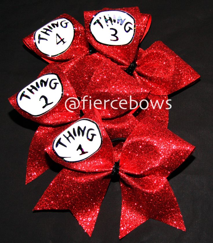 Cheer Bow by MyFierceBows on Etsy.