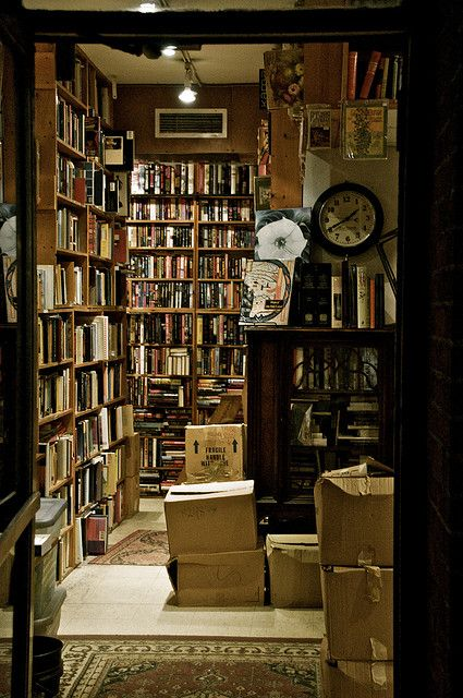 A little Old Bookshop. Is there any better way to spend an afternoon?  Give me a cup of tea and a bookstore, and I'll be happy for hours.