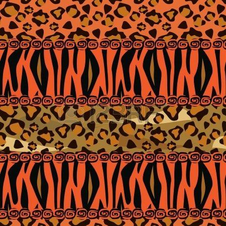 Stile africano senza soluzione di continuità con il ghepardo e il modello di pelle di tigre Archivio Fotografico