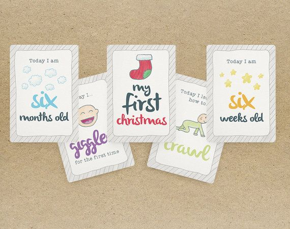 Baby Milestone Cards (set of 36 cards)