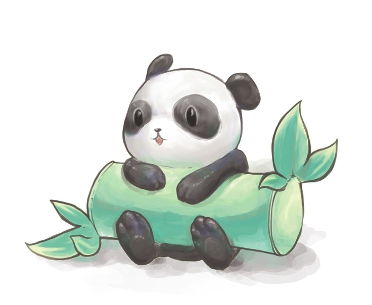 Cute drawing of panda! <3