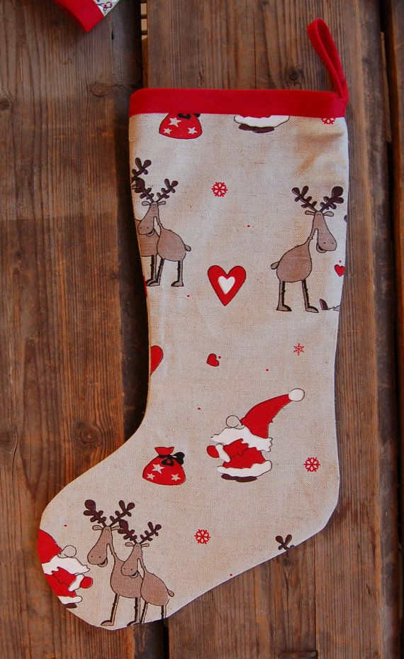 Christmas Stocking from organic Estonian linen by hannasboutique, $25.00