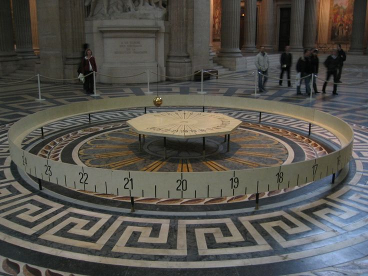 The Foucault pendulum (English pronunciation: /fuːˈkoʊ/ foo-koh; French pronunciation: ​[fuˈko]), or Foucault's pendulum, named after the French physicist Léon Foucault, is a simple device conceived as an experiment to demonstrate the rotation of the Earth. While it had long been known that the Earth rotates, the introduction of the Foucault pendulum in 1851 was the first simple proof of the rotation in an easy-to-see experiment.