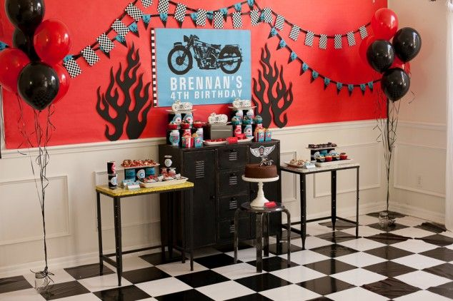 Motorcycle Rally Birthday Party - Design Dazzle