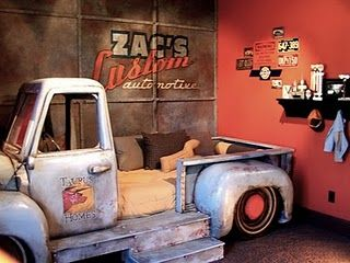 Coolest boys room EVER!!  (or girl's - I would have loved a room like this)                   OMG!!!!!!!!!!!!!! Except the truck will be a ford power stroke(: of course