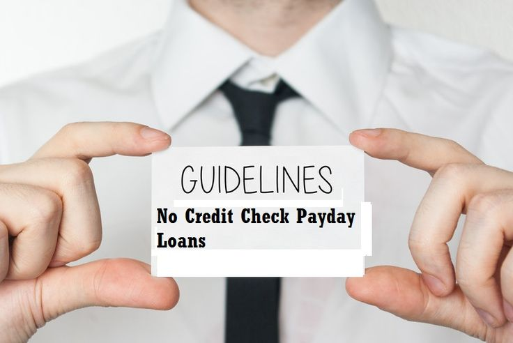 how to get a loan without a credit check