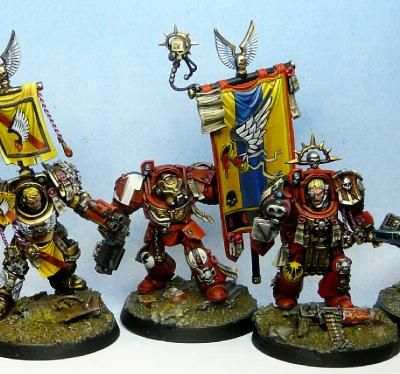 Armaggedon War, Blood Angels, Honor Guard, Terminator Armor, Tycho - Blood Angel Tycho terminator honor guard - Gallery - DakkaDakka | Our toys can beat up your toys.