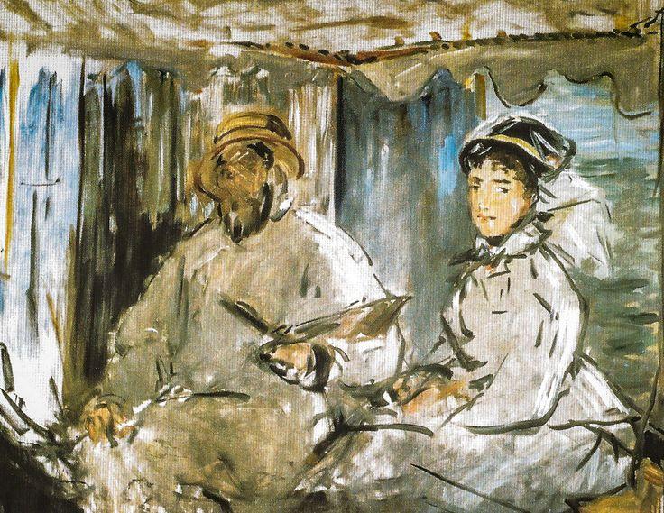 Edouard Manet - The Artist Monet in his Studio, 1874 at Staatsgalerie - Stuttgart Germany