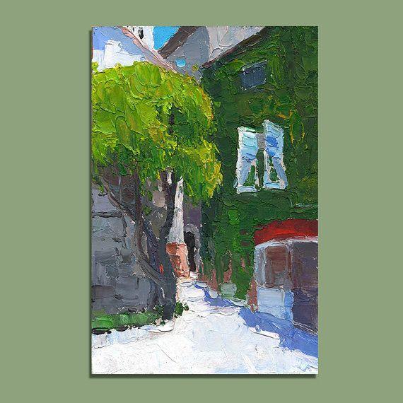 France Provence Cityscape Original Oil Painting Palette Knife