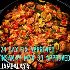 The Sweatiest Thing: Jambalaya Recipe (Chicken, Sausage, Shrimp & Veggies 21 Day Fix Approved)