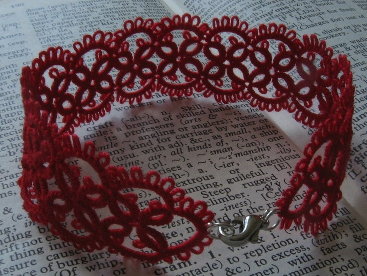 Endless classics - handmade unique red lace.